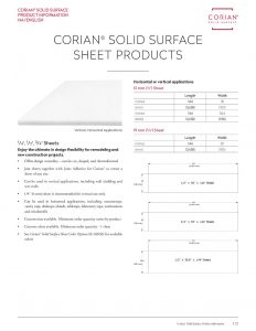 Corian<sup>®</sup> Sheet Products